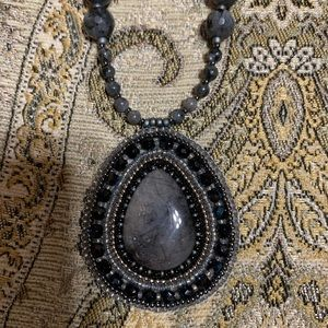 Hand beaded pendant